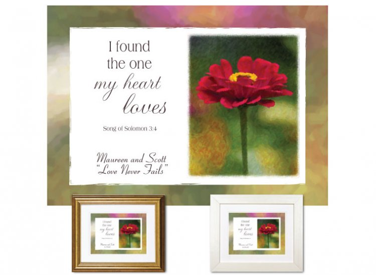 Wedding Anniversary Gift - I Found the One (Zinnia) - Click Image to Close
