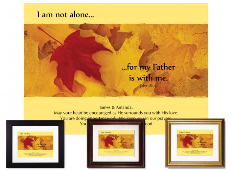 Christian Encouragement - I Am Not Alone - Click Image to Close