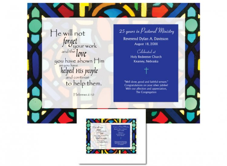 Ordination Anniversary Gift - He Will Not Forget - Click Image to Close