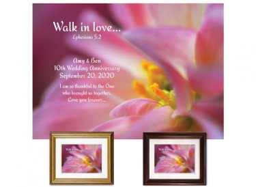 Wedding Anniversary Gift - Walk In Love