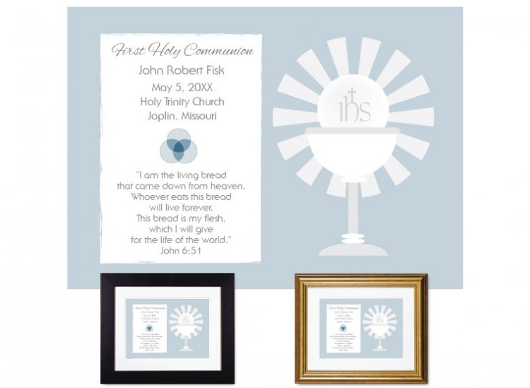 First Communion Gift - Sunburst (Steel Blue) - Click Image to Close