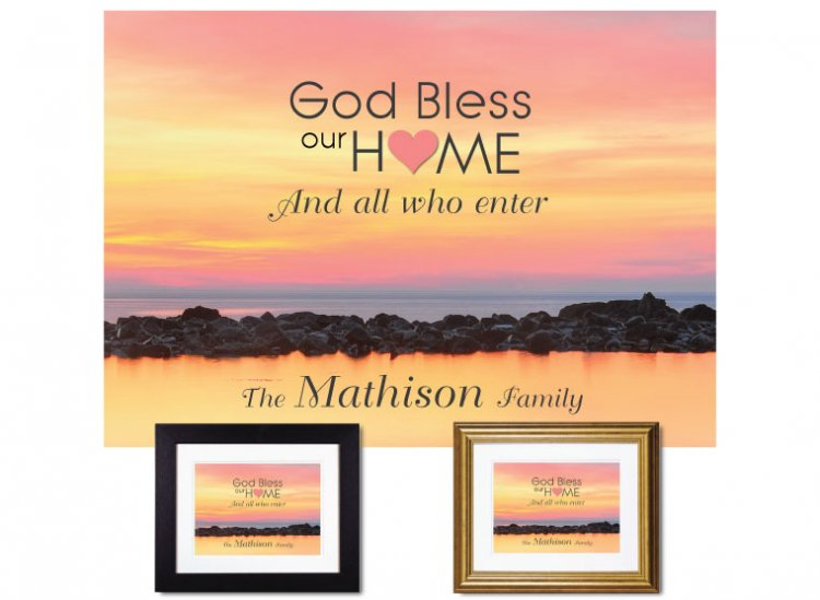 Gifts for House & Home - God Bless Our Home (Ocean) - Click Image to Close