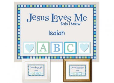 Children's Gift - Jesus Loves Me (blue)