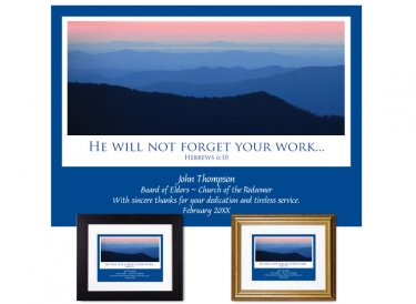 Service Appreciation - Your Work (Blue Ridge)