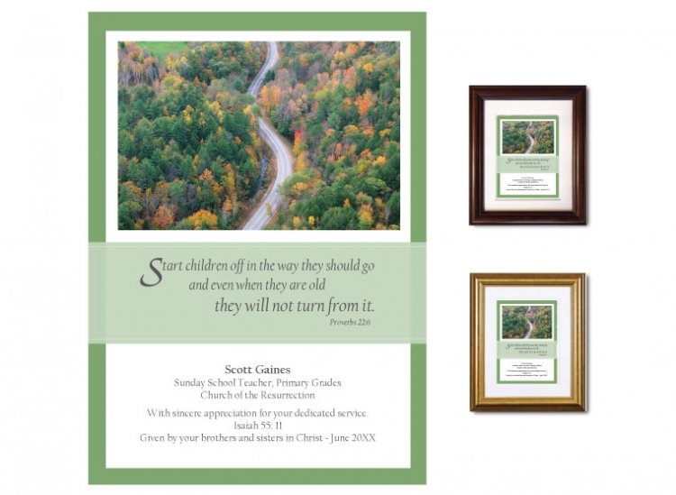 Teacher Appreciation Gift - Start Children Off (Winding Road) - Click Image to Close