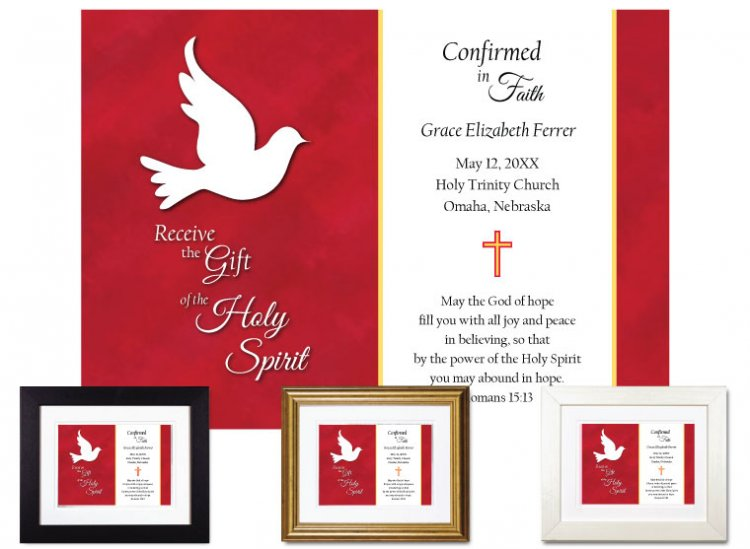 Personalized Confirmation Keepsake - Receive the Gift - Click Image to Close