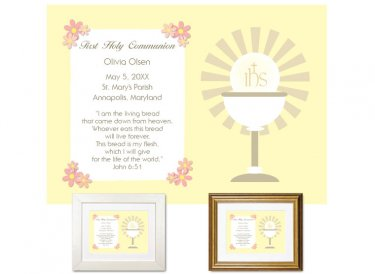 First Communion Gift - Sunburst (Yellow)