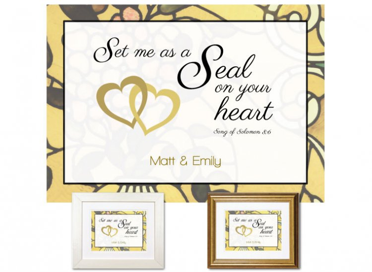 Sweetest Day Gift - On Your Heart (Gold) - Click Image to Close