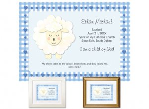 Personalized Baptism Gift - I am a Child of God (blue)