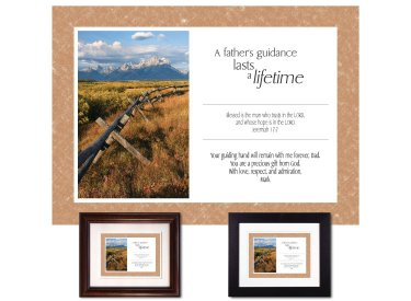 Gift for Father - Lifetime of Guidance (Fence)