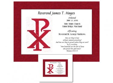 Clergy Ordination Gift - Chi Rho