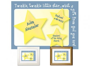 Personalized Baptism Gift - Little Star (blue)