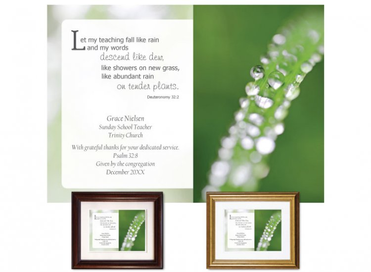 Teacher Appreciation Gift - My Words (Green) - Click Image to Close