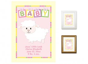 Newborn Gifts - Birth Stats - Baby (Pink)