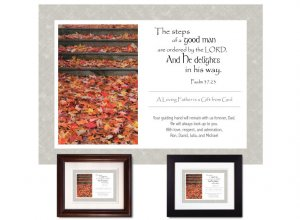 Gift for Father - A Good Man (Autumn Leaves)