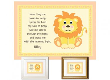 Personalized Child's Prayer Keepsake - Lion