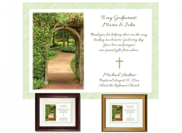 Gift for Godparents - Garden Path (green) - Click Image to Close