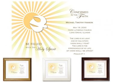 Personalized Confirmation Keepsake - Be Filled With the Spirit