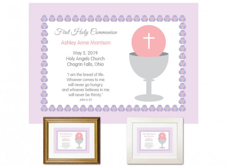 First Communion Gift - Bread of Life (Violet) - Click Image to Close