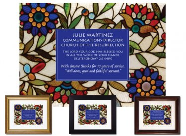 Service Appreciation - All the Work (Stained Glass)