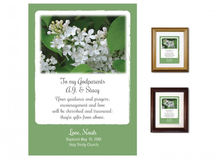 Gift for Godparents - Lilac - Click Image to Close