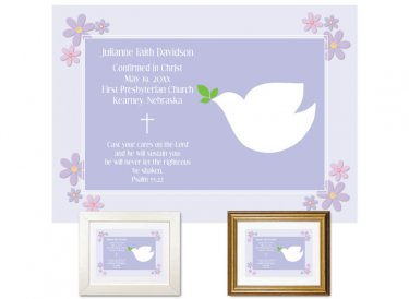 Confirmation Gift - Dove (Lavender)