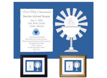 First Communion Gift - Sunburst (Deep Blue)