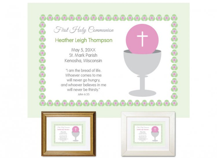 First Communion Gift - Bread of Life (Mint) - Click Image to Close