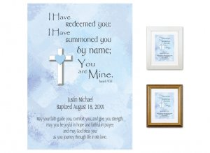 Personalized Baptism Gift - You Are Mine (blues)