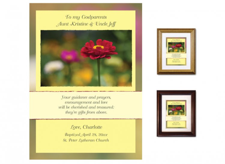 Gift for Godparents - Zinnia - Click Image to Close