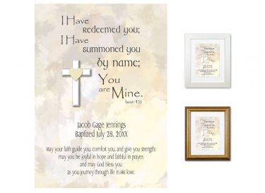 Personalized Baptism Gift - You Are Mine (neutrals)