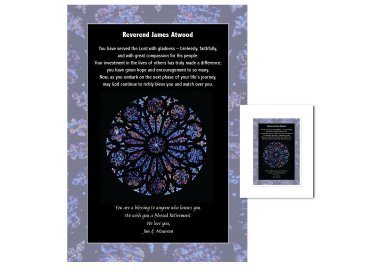 Clergy Retirement Gift - Rose Window