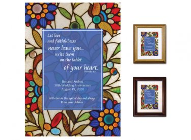 Wedding Anniversary Gift - Tablet of Your Heart