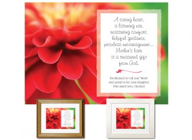 Gift for Mother - A Caring Heart (Zinnia)