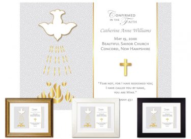 Confirmation Gift - Dove, Gold