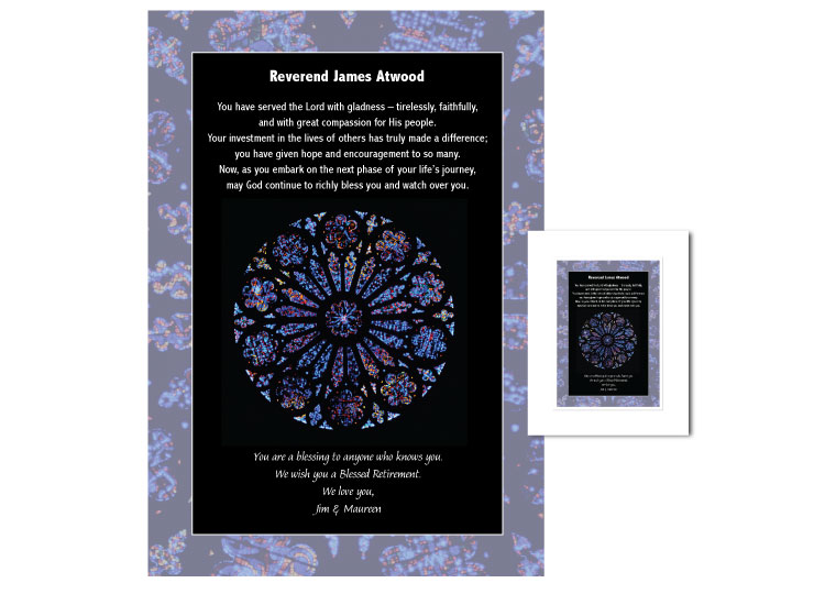 Clergy Retirement Gift - Rose Window - Click Image to Close