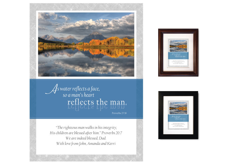 Gift for Father - A Man's Heart (Mountains) - Click Image to Close