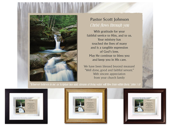 Personalized Pastor Appreciation Plaques from The Christian Gift
